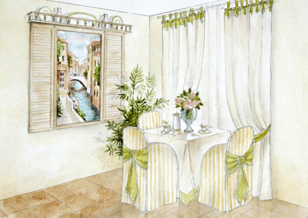 Кухня с  видом  на  Венецию