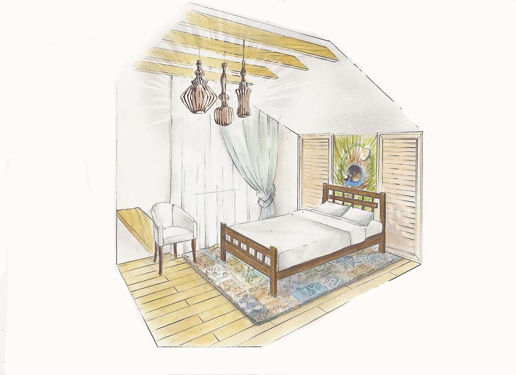 Спальня с павлиньим пером